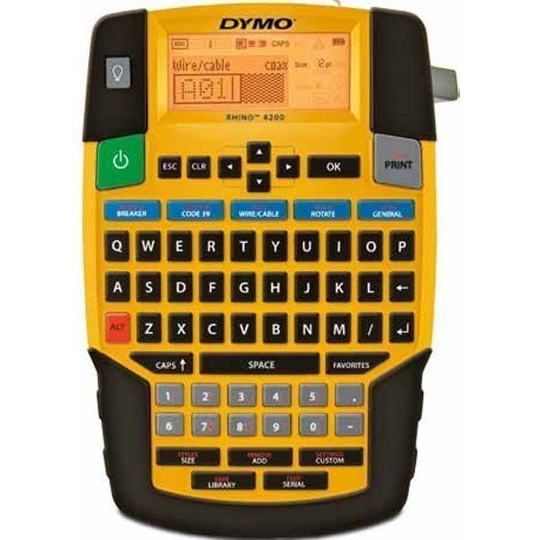 DYMO Rhino Professional 4200 tarratulostin LCD-näyttö kannettava