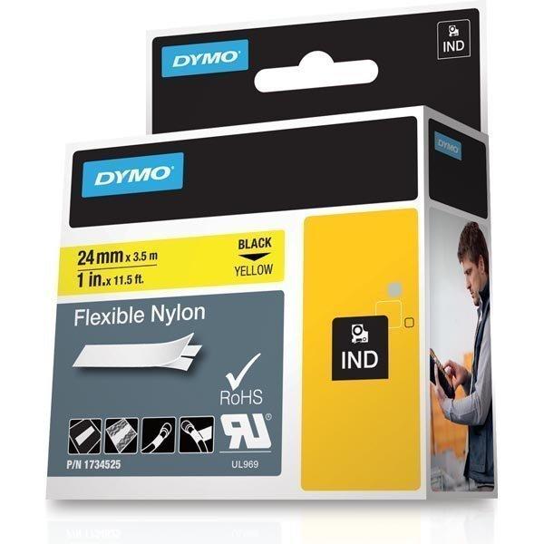 DYMO Rhino Professional joustava merkkausteippi keltainen nyloni 24mm
