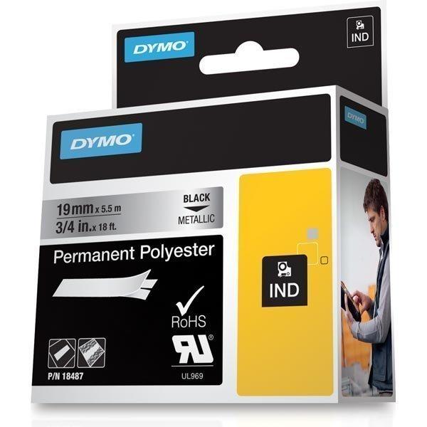 DYMO Rhino Professional pysyvä merkkausteippi polyesteri 19 mm