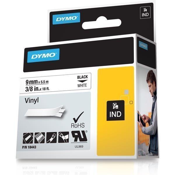 DYMO Rhino Professional pysyvä merkkausteippi vinyylitarra 9mm