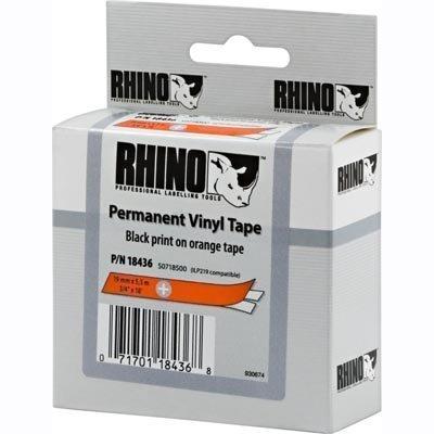 DYMO RhinoPRO merkkausteippi vinyyli 19 mm oranssi teippi/musta 5 5m