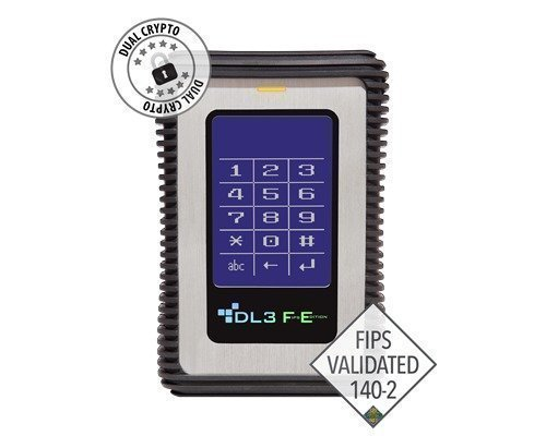 Datalocker Dl3 Fe Pin- & Two Pass 256-bit Aes Crypt With 2 Factor Rfid 2tb Musta