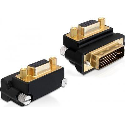 DeLOCK DVI-I > VGA-sovitin 24+5 uros - 15-pin naaras kulmaliitos