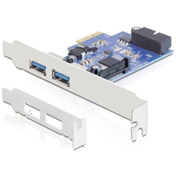 DeLOCK PCI-Express x1 kortti 2xUSB A na 19-Pin USB3.0 LP bracket