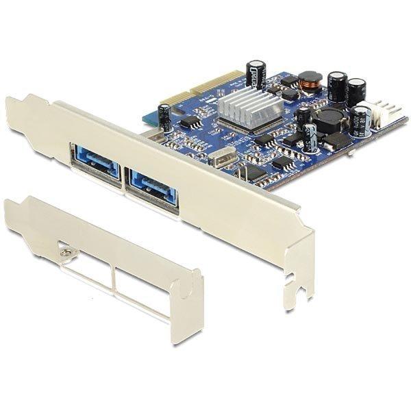 DeLOCK PCI-Express x4 kortti 2xMultiport muk.matalaprof.peitelevy