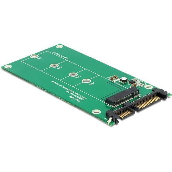 DeLOCK Sovitin liitäntämuunnin SATA 22-pin - M.2 (NGFF) 6Gb/s vi