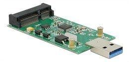 DeLOCK USB 3.0 - mSATA sovitin 5Gb/s 1xUSB 3.0 type A uros 1xmSATA