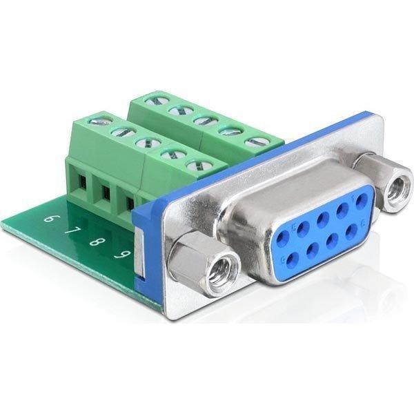 DeLOCK VGA Terminal block sovitin HD15 naaras
