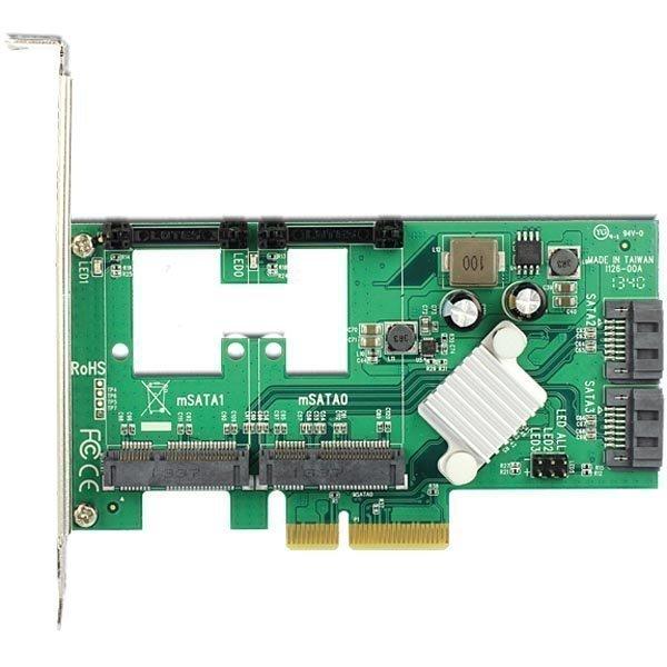 DeLOCK ohjainkortti PCI-E 2.0 x4 SATA 6 2xmSATA 2x SATA 7-pin