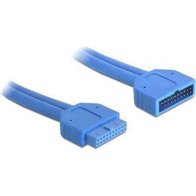 DeLOCK sisäinen jatkokaapeli USB 3.0 IDC20 u - 2xUSB 3.0 A n