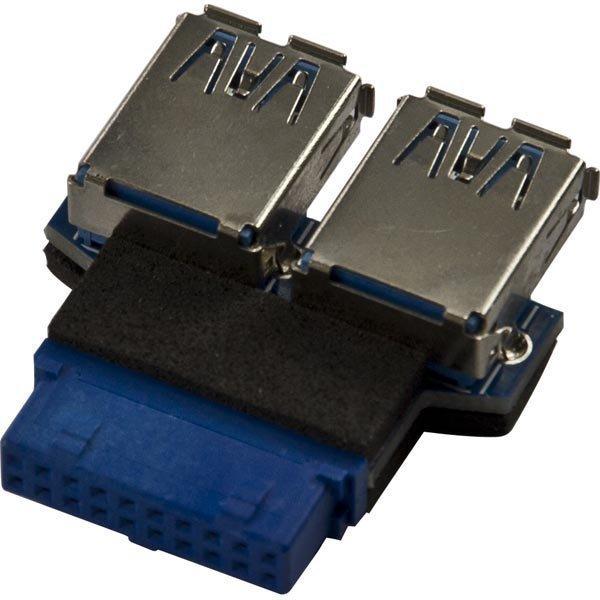 DeLOCK sisäinen sovitin sopii USB 3.0 IDC20 naaras - 2xUSB 3.0 A naara
