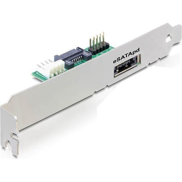 DeLOCKsovitin SATA/USB - Power Over eSATA-sovitin