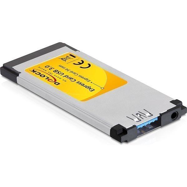 DeLock ExpressCard 34mm USB 3.0 1xTyyppi A portti