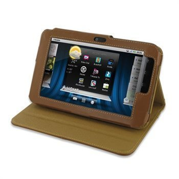 Dell Streak 7 PDair Leather Case Ruskea