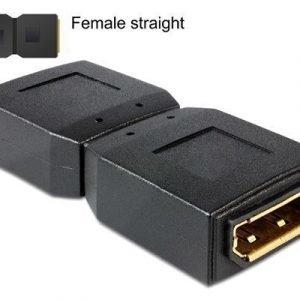 Delock Adapter Displayport Female > Displayport Female Gender Changer 20-nastan Näyttöporttiliitin Naaras 20-nastan Näyttöporttiliitin Naaras