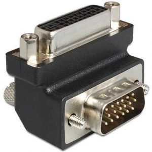 Delock Adapter Dvi 24+5 Female / Vga 15 Pin Male 90°angled 29-nastainen Yhdistelmä-dvi Naaras 15-nastainen Hd D-sub (hd-15) Uros