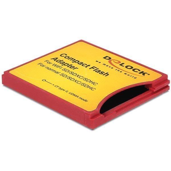 Delock Compact Flash Sovitin ISDIO(WiFi SD) SDHC SDXC muistikortti