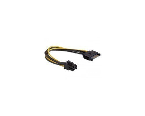 Delock Power Cable 15-nastainen Serial Ata Virtaliitin Uros 6-nastainen Pci Express Virtaliitin Uros 0.21m
