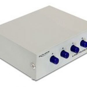 Delock Rs-232 Switch 4 In 1 Out 9 Pin D-sub (db-9) Female 9 Pin D-sub (db-9) Female