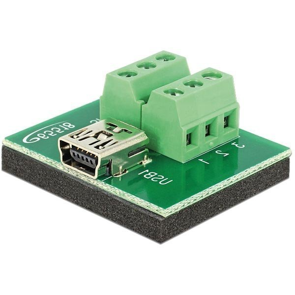 Delock Sovitin Mini USB naaras > Terminal Block 6 pin