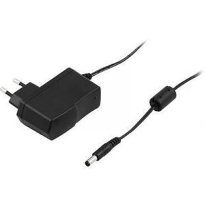 Deltaco Adapter 100-240v 12v 1a Europlug (power Cee 7/16) Male Power Female Black 1.5m
