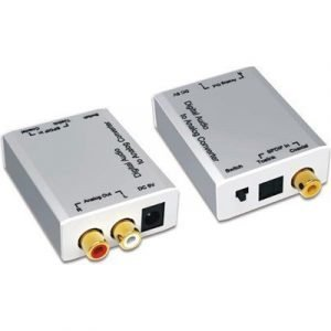 Deltaco Adapter Digital Analog Audio Koax/optical Rca Rca Toslink Naaras Rca Naaras