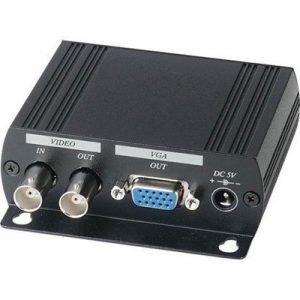 Deltaco Adapter Komposit Vga Black Unknown Naaras 15-nastainen Hd D-sub (hd-15) Naaras