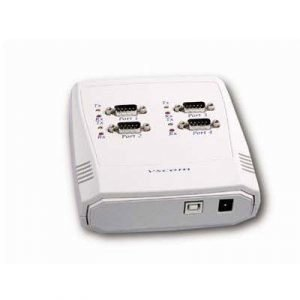 Deltaco Adapter Usb Serial Rs422/485 4xdb9ha 9 Pin D-sub (db-9) Female Usb Type B Female White 0m