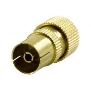 Deltaco Antenna Contact 9.5mm Female Screw Metall Antenniliitin Naaras Ei