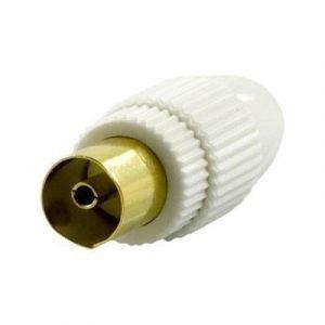 Deltaco Antenna Contact 9.5mm Female Screw Plast Antenniliitin Uros Ei