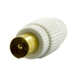 Deltaco Antenna Contact 9.5mm Male Screw Plast Antenniliitin Uros Ei