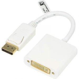 Deltaco Dp-dvi15 20 Pin Displayport Male Dvi-i Female White 0.2m