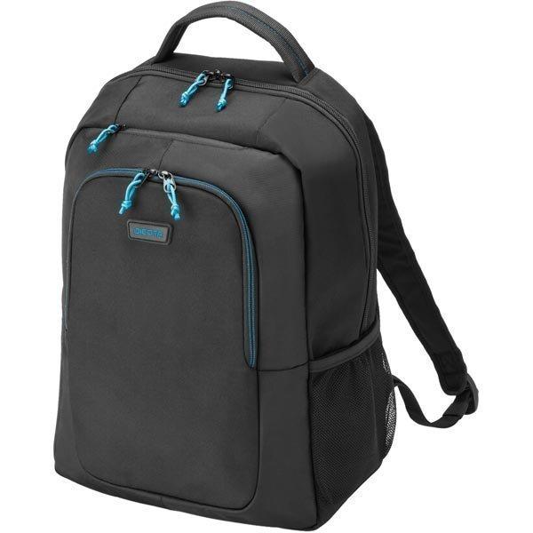 """Dicota Spin Backpack selkäreppu kannettaville nylonia 15 6 musta"""""""