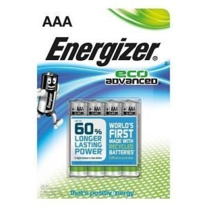 Energizer Battery Eco Advanced Aaa/lr03 4-pack