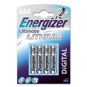 Energizer Battery Ultimate Lithium Aaa/lr03 4-pack