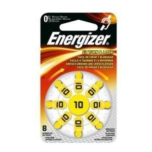 Energizer Battery Zinc Air 10 Hearing Aid 8-pack