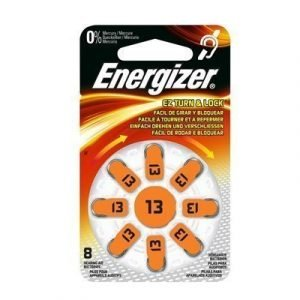 Energizer Battery Zinc Air 13 Hearing Aid 8-pack