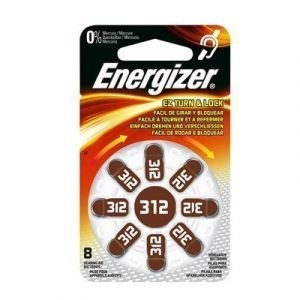Energizer Battery Zinc Air 312 Hearing Aid 8-pack