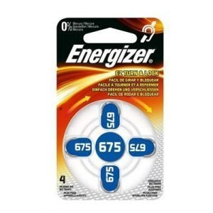 Energizer Battery Zinc Air 675 Hearing Aid 4-pack