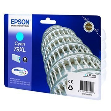 Epson 79 Mustepatruuna XL WorkForce Pro 4630 5110 5620 5690 Syaani
