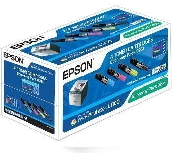 Epson Aculaser C 1100 CX 11 N Toner C13S050268 4 Pack Black Cyan Magenta Yellow