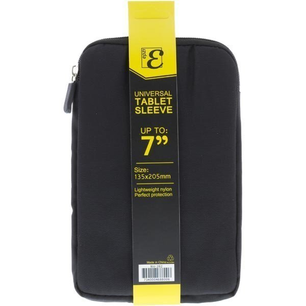 "Epzi Universal Tablet Sleeve nylonsuojus 7 tabletille musta"""