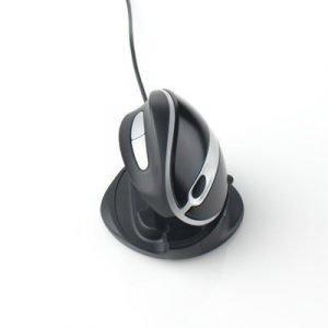 Ergoption Oyster Mouse Large Wired Hiiri Musta Ja Hopea