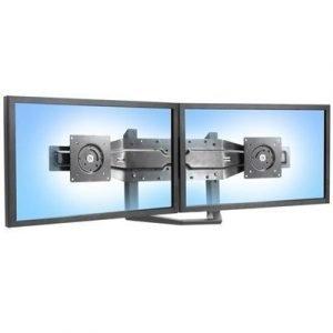 Ergotron Dual Monitor Arm With Pivot Black