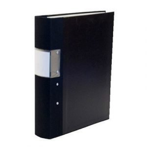 Esselte Fork Binder Wodden Back Budget 40 Mm Black