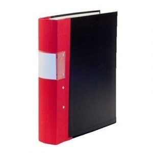 Esselte Fork Binder Wodden Back Budget 40 Mm Red