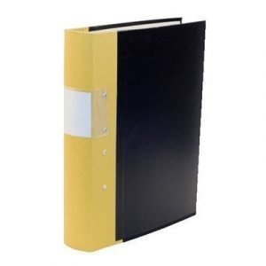 Esselte Fork Binder Wodden Back Budget 40 Mm Yellow