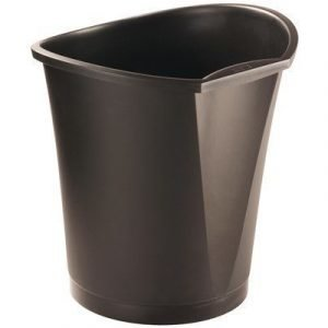 Esselte Waste Bin Basko 18 Black