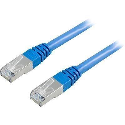 FTP Cat6 suojattu laitekaapeli 0.5m sininen