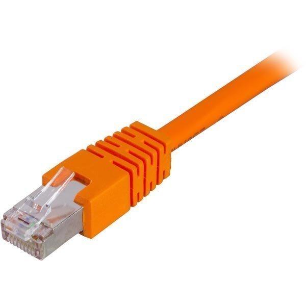 FTP Cat6 suojattu laitekaapeli 15m oranssi
